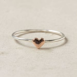 AE Rose Gold Heart Ring